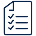 Checklist Icon Navy Blue